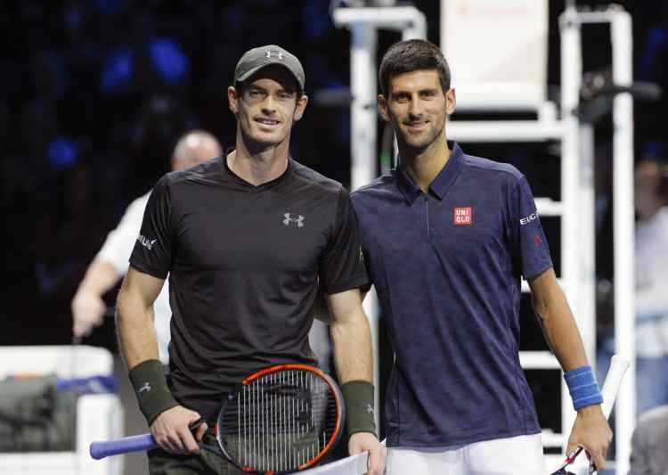 Murray mot Djokovic i London-finalen december 2016.